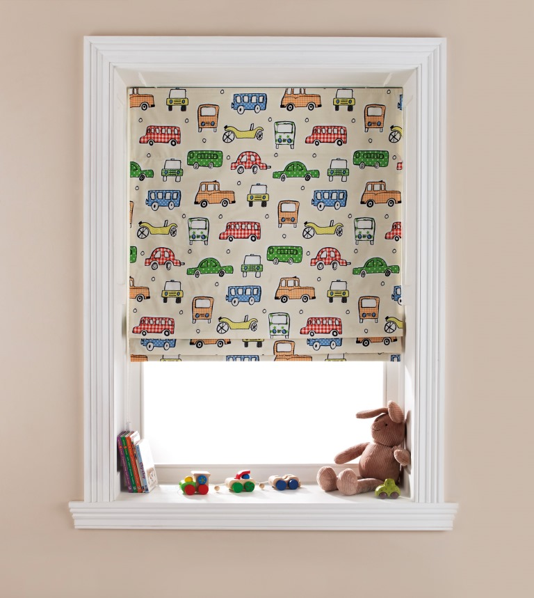 childrens room cars print